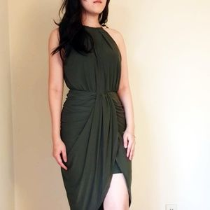 Army Green Cocktail Party Prom Dress (Brand New)